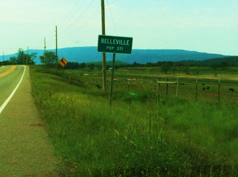 Welcome to Belleville Population 371!